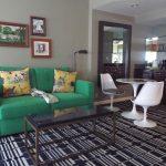 A Graduate hotel room living area