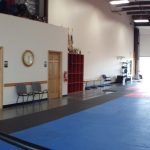 Gym interior showing office wall