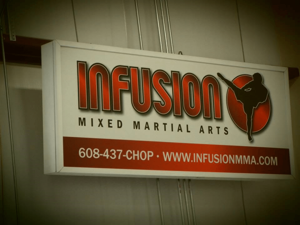 Infusion Mixed Martial Arts Sign