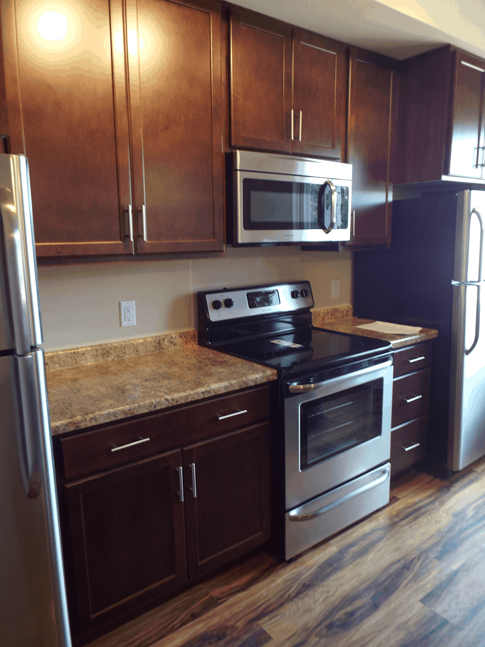 Townhomes kitchen area